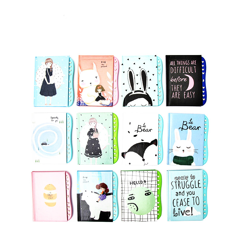 Kawaii Cartoon Diary With Lock Notebook Cute Functional Planner Lock Book Dairy Journal Stationery Gift