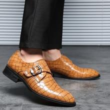 New Crocodile Pattern Leather Mens Wedding Shoes Italian new style Dress Men Business Fashion Formal Plus Size38-48