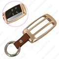 Gold For Land Rover/Jaguar All Series Aluminium Alloy Car Key Case Bumper Cover Shell With Leather Keychain  #J-3138