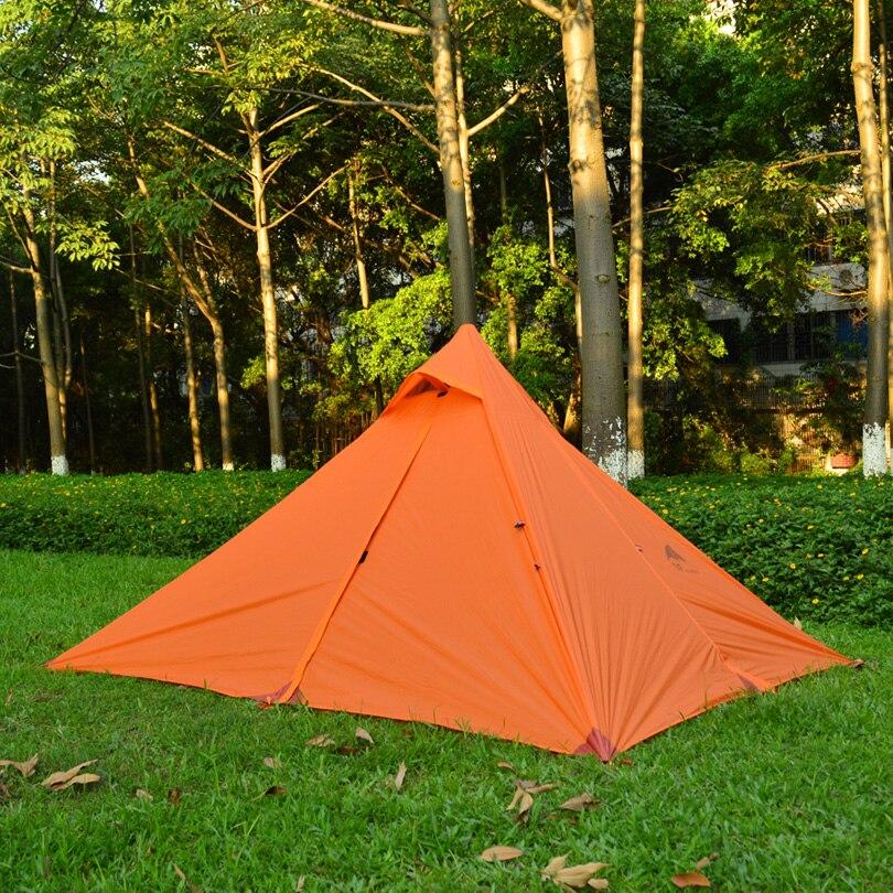 2016 3F ul Gear Pyramid 3 season 2 layer 2 resident big spacious silicon coating camping tent