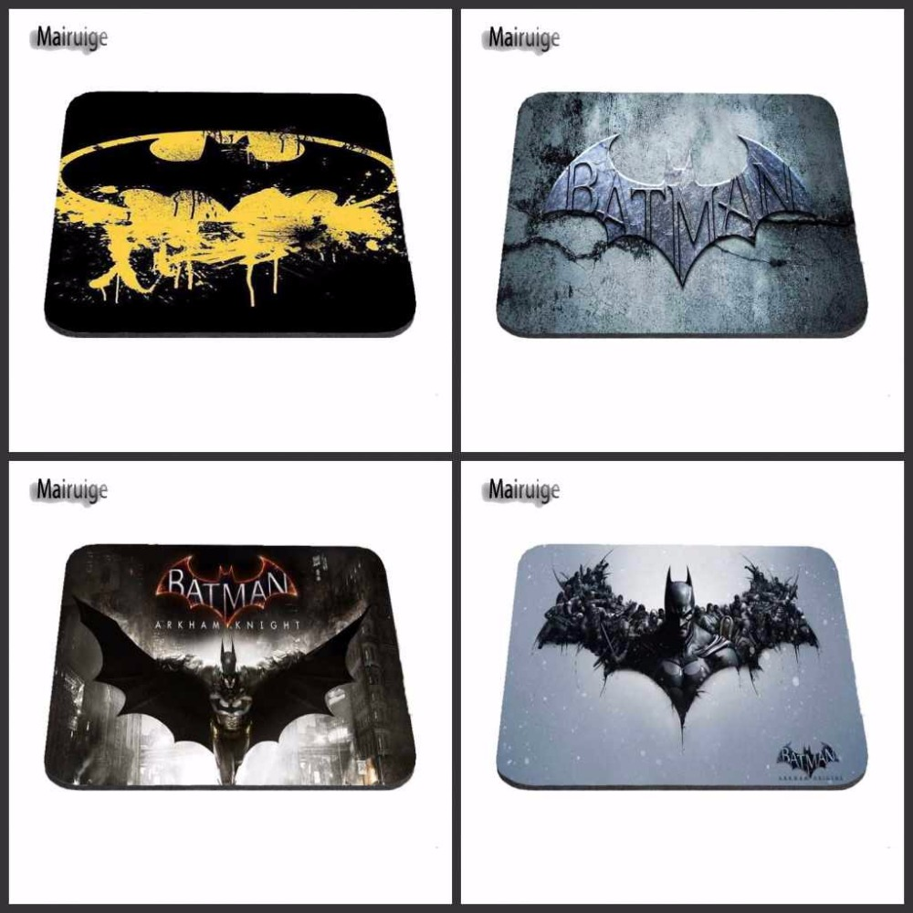 DIY New Arrival 2017 Custom Batman Slim Silicone Laser Mouse Pad Superhero Anti-Slip Mousepad Soft Rubber Mat for Optical Mice