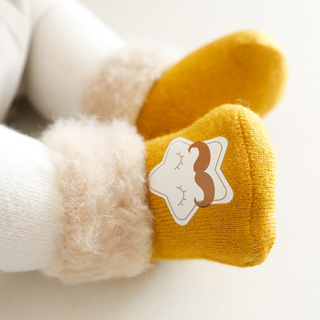 3Pcs/set 2018 New Cute Cartoon Winter Thick Baby Terry Socks Warm Newborn Cotton Boys Girls Cute Toddler Socks