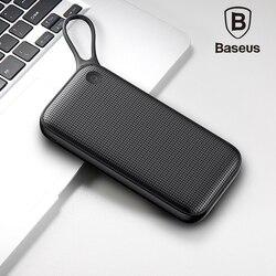 Baseus 20000 mah portátil power bank para iphone xs max xr 8 7 carregador de bateria externa usb carregamento rápido + duplo carregador rápido 3.0