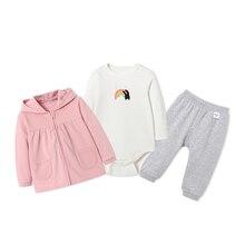 Baby Kids Clothes Set Jacket Bodysuit And Jogger Pants
