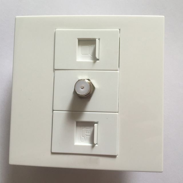 Kostenloser Versand Qualität Weiße Farbe 86x86mm Wand Panel RJ45 + ...