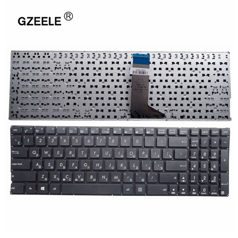 GZEELE Russian Keyboard For ASUS X553 X553M X553MA K553M K553MA F553M F553MA Black RU Laptop Keyboard
