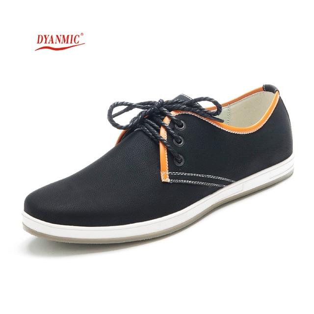 b1ab0508 Hombres Casual Zapatos de Estilo Italiano de Los Hombres de Punta Redonda  Zapatos De Deporte Negro