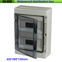Top Quality PC Cover ABS Body Waterproof Dustproof Wall Mounted Distribution Box 24 Way Circuit Breaker