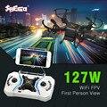 SBEGO 127W Mini Drone With WiFi FPV 2.4GHz 4CH 6-Axis Gyro 0.3MP Camera RTF RC Mini Pocket Quadcopter Toy vs cx10w cx10wd tx
