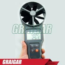 AZ-8916 10 cm TEMPERATURA de Paletas y Anemómetro Mide la Velocidad Del Aire Temperatura Volumen Tester AZ8916
