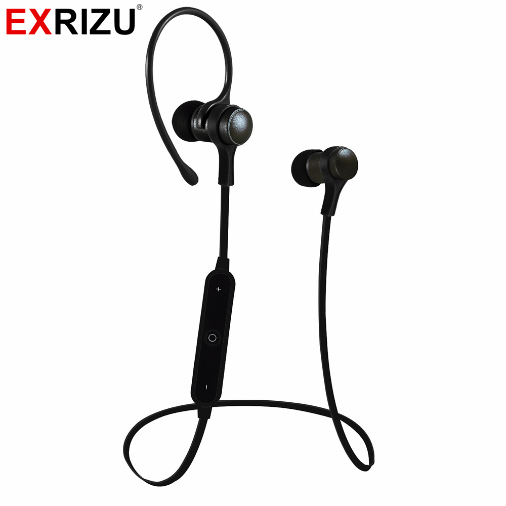 EXRIZU Mini Wireless In-ear Metal Earpiece Bluetooth Earphone Cordless Handsfree Stereo Music Headset for iPhone Samsung Xiaomi
