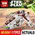 NUEVA LEPIN 05041 Star Wars 1175 unids Coruscant Policía Gunship Compatible 75046 Niños Regalos juguetes Desarrollo intelectual
