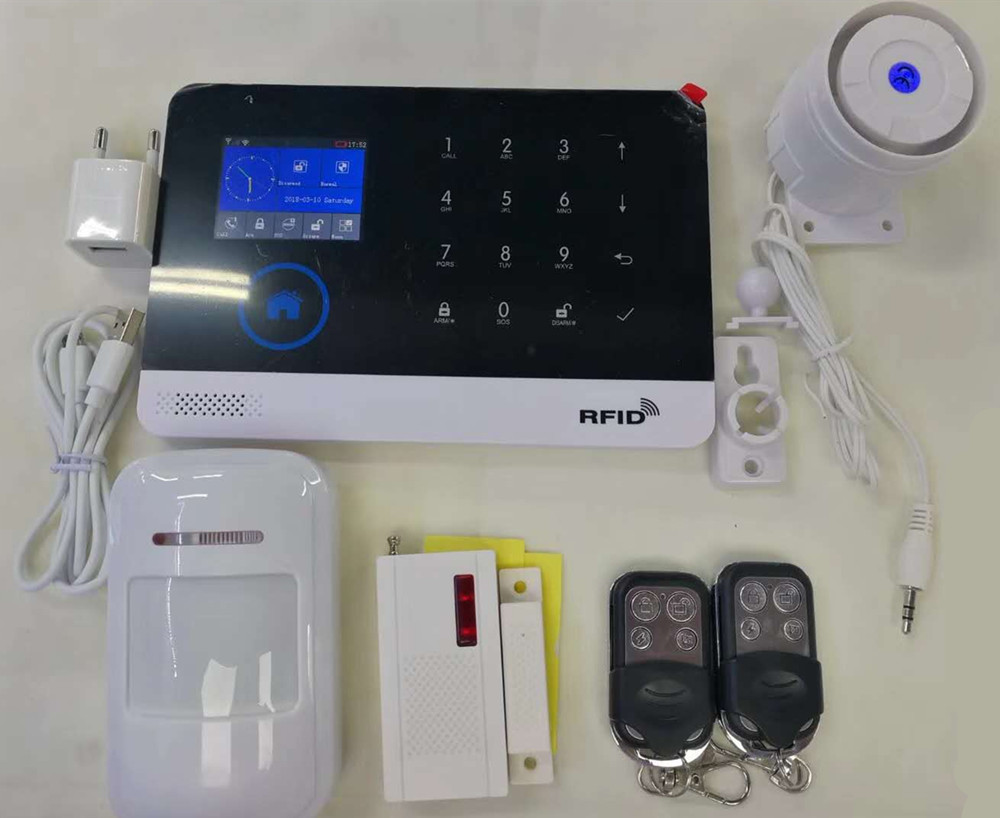 433Mhz Wireless Touch Screen RFID GSM Alarm System433Mhz Wireless Touch Screen RFID GSM Alarm System