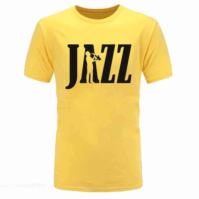 ... 2018 summer Clothing Jazz Newest Saxophone Funny T Shirt Tshirt Men  Women Hip Hop Cotton Short ... 39b72839927a