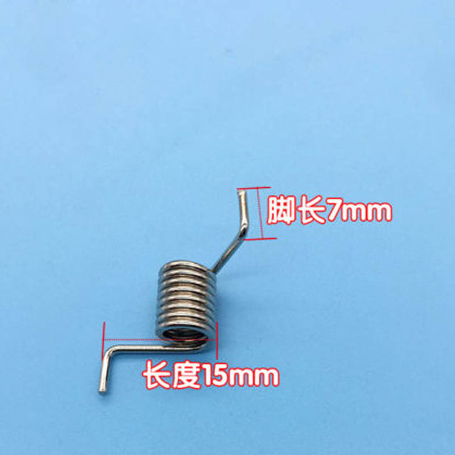 Wire Dia 1.2mm OD 8mm 8 Coils Spring Electroplated Nickel Torsion ...