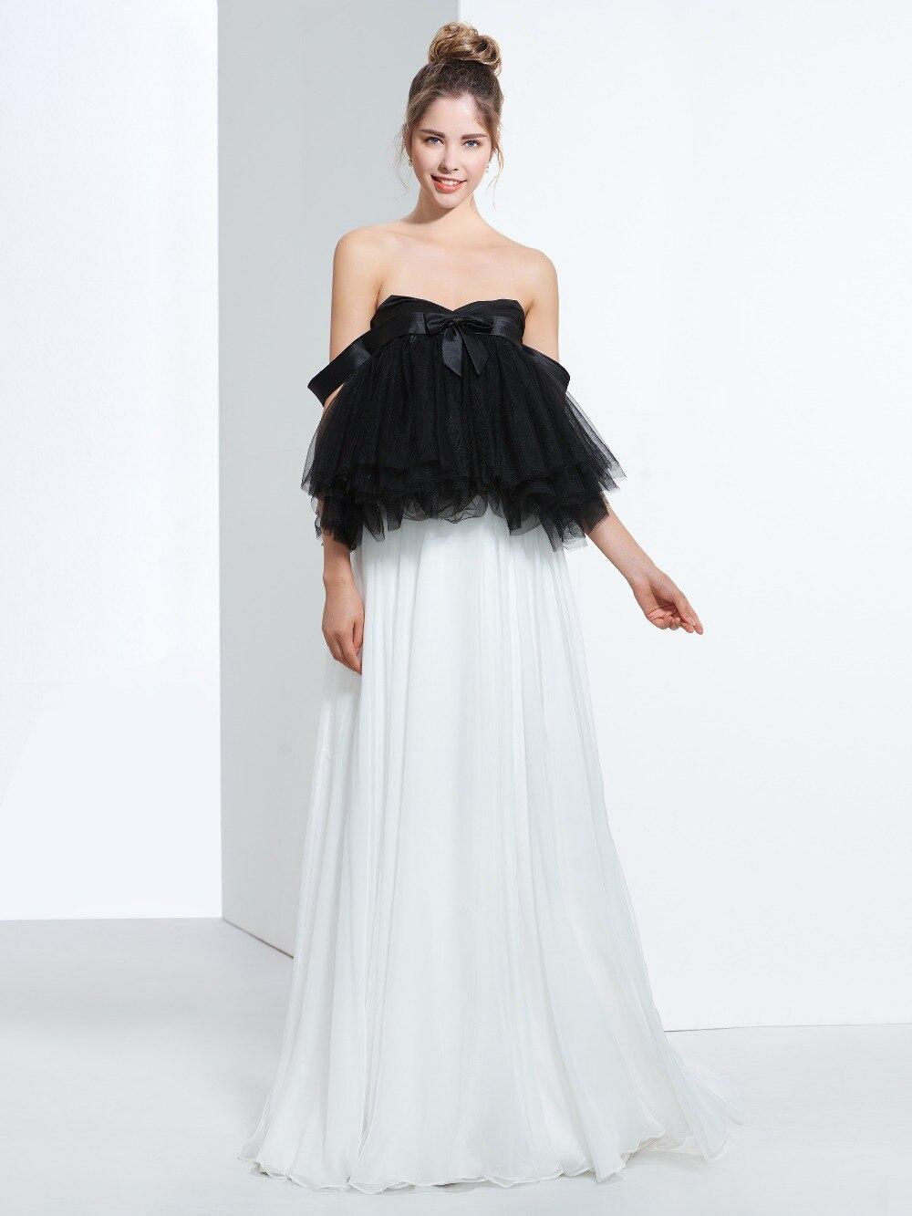 Robes de soirée Sexy en Tulle et mousseline de soie longues robes de bal robe de soirée avec nœud en Satin robe de soirée robe de soirée longo