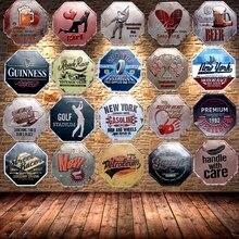 Carteles de Metal irregulares, tablero de anuncios Vintage, pared, Pub, garaje, café, hogar, decoración artística, 30 CM, U-28