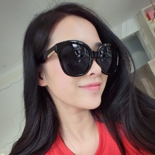 2015 New Korean Style GD Vintage Inspired Round Horned P-3 Sunglasses with Key Hole Nose Big Sunglasses