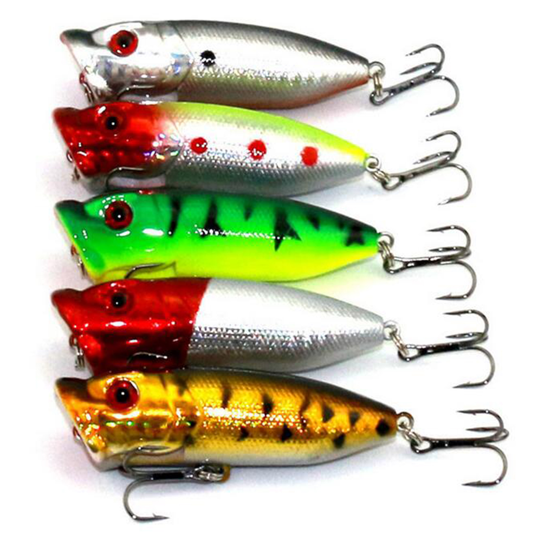 Artificial Fish Lures Artificial Bionic Bait Popper Random Color Fish Tackle