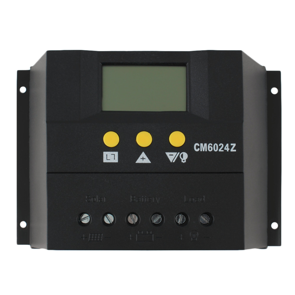 1 pc Intelligent PWM charge mode PY6024Z 60A 12-24V Solar Regulator Solar Charge Controller LCD Solar Genetator Voltage Control 40a 12 24v pwm solar charge controller engineering premium quality com rs232 with pc