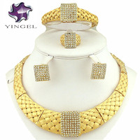 Unique Design Jewelry Sets Free Shipping 18K African Gold Jewelry Sets High Quality Jewery Set Fashion