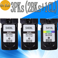 3 Packs PG 540 CL 541 PG 540XL CL 541XL PG540 PG-540 Ink Cartridge Cartridges For Canon Pixma MG2180 MX378 MG3180 Inkjet Printer