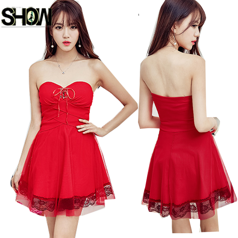 Compare Prices on Little Red Strapless Dress- Online Shopping/Buy ...