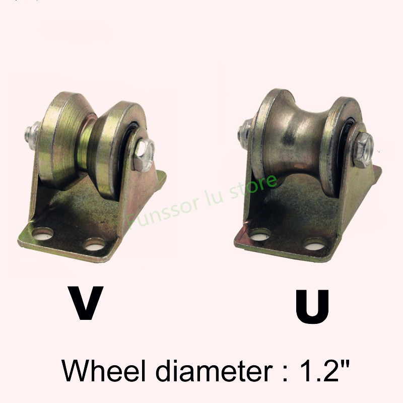 Nice Factory Outlets,1.2 Inch Cast Steel Track Wheel/pulley,wire Rope Bearings/sliding Door/sheave Lifting Pulley,industrial Hardware Pure And Mild Flavor