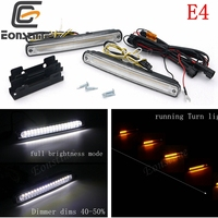 Eonstime 12V Car 36LED Daytime Running Light Streamer Turn Signal Lamp Dimming 14W E4 Waterproof Sports