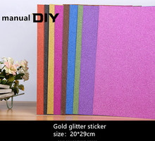 Glue can not drop powder flashing paper bright A4 glitter gold decorative manual DIY material 10 pec/lot