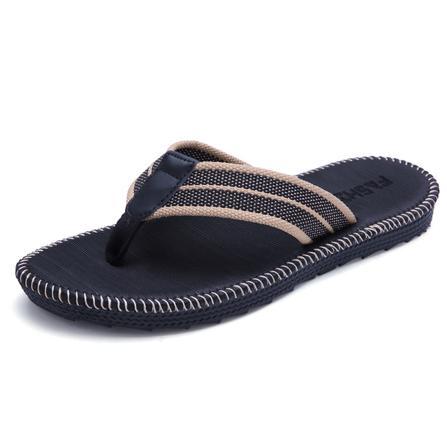 Summer couples men and women fashion trend flip flops slippers non-slip beach sewing cool student clip outside slippers 1