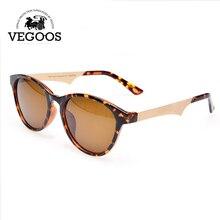 Vegoos очки Винтаж поляризационные Солнцезащитные очки для женщин Для мужчин Для женщин бренд Дизайн очки Защита от солнца Очки Для женщин женские Защита от солнца стекло #6108