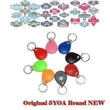100 pçs/lote Anel chave Tag RFID cartão de 125 KHZ EM ID keyfobs Assiduidade Controle de Acesso de Proximidade Token EM4100 TK4100