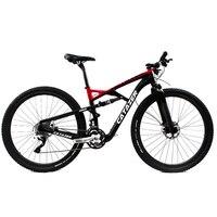 CATAZER Carbon Mountain Bike 29 Wheelset Suspension Frame 20/30 Speeds Profession Disc Brake MTB Bicycle With SHIMAN0 M8000