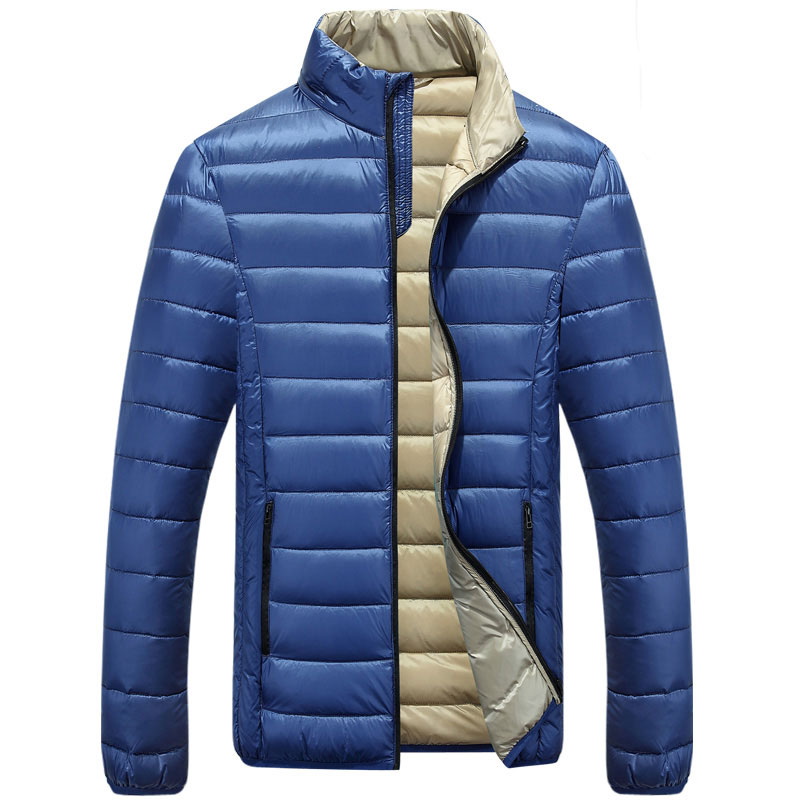 Jackets & Coats 2018 Men Down Coat Winter Jacket Outwear Overcoat Ultralight Warm Fashion Stand Collar Travel Pocketable Portable