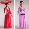 Mulheres Fadas Princesa Antiga Hanfu Traje Chinês Dança Folclórica Tradicional Vestido de Chiffon S/M/L/XL Personalização frete Grátis