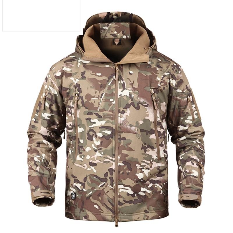 Hosen Casual Hosen Tactical Shark Haut Wasserdichte Softshell Military Kleidung Militär Atmungsaktive Camouflage Hose