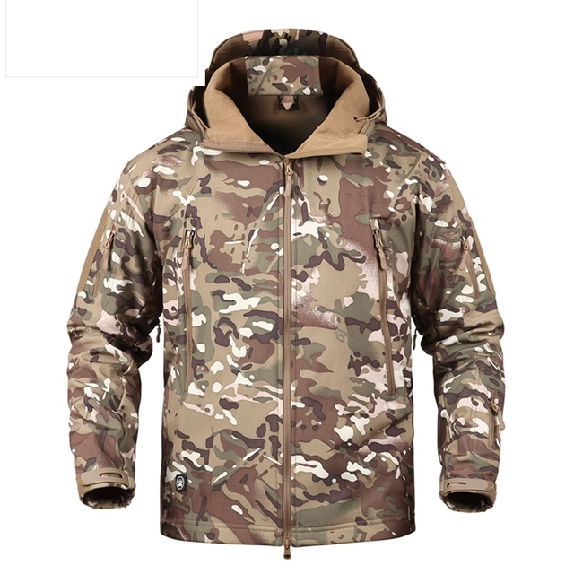 san francisco ea151 48ae1 Shark Skin V5 Soft Shell Tactical Military Jacket Men Waterproof Winter  Fleece Coat Army Clothes Camouflage Jackets