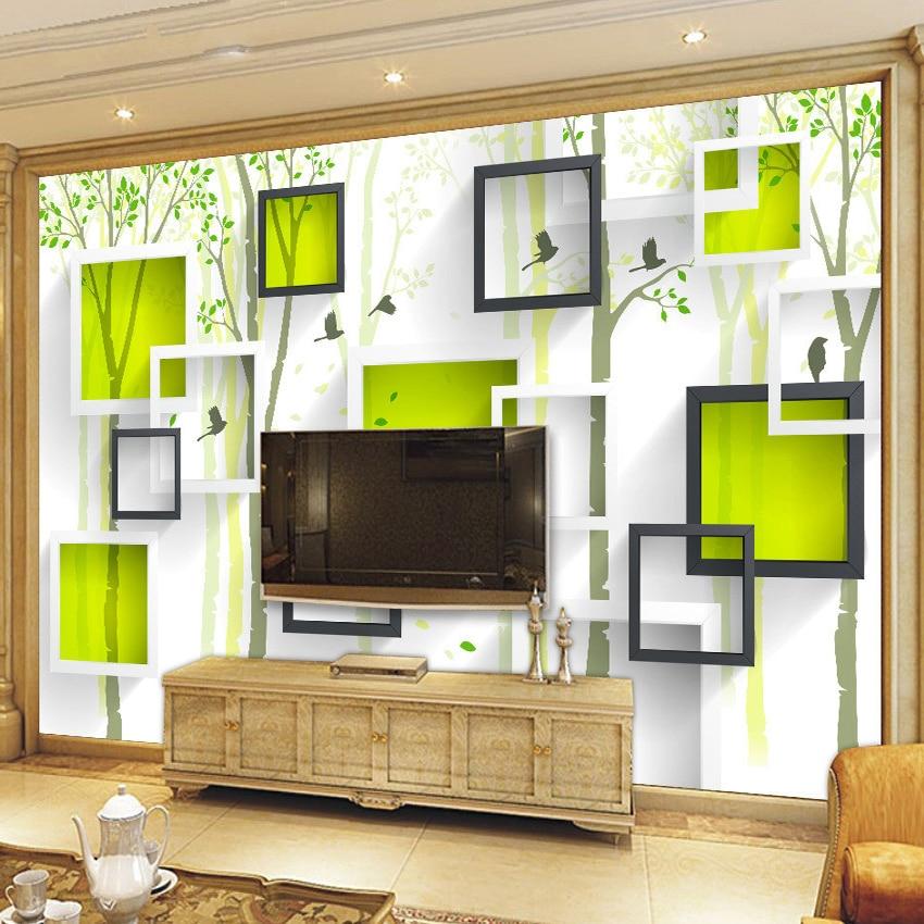 Custom Photo Wallpaper Modern 3D Stereoscopic Mural Bird Woods Art Wallpaper Living Room TV Background Wall Papers Home Decor