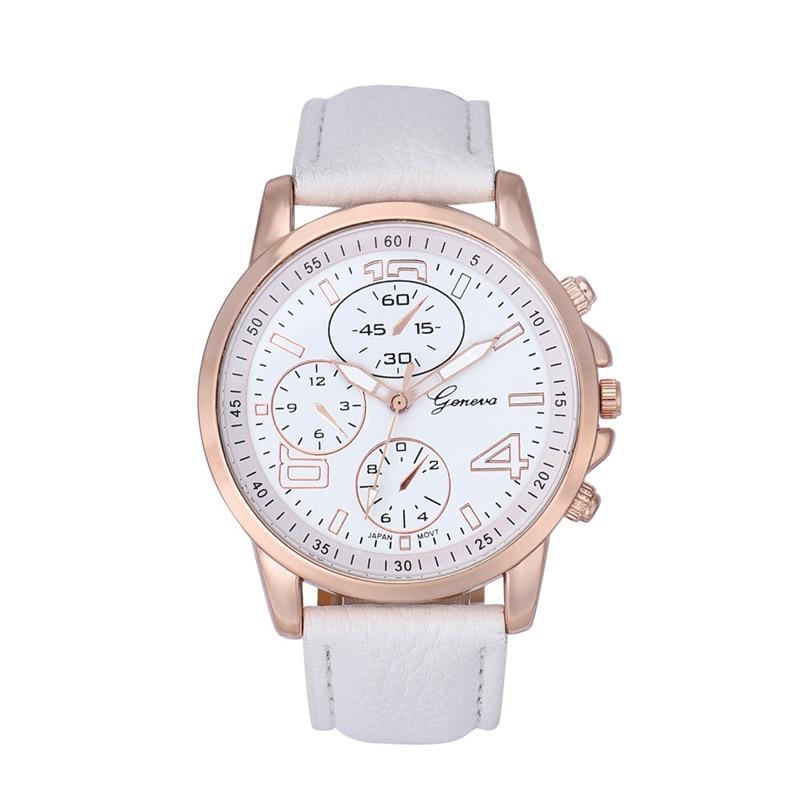 где купить 2018 Fashion Women Bracelet Watch Famous brand Ladies Faux Leather Analog Quartz Wrist Watch Clock Women relojes mujer по лучшей цене