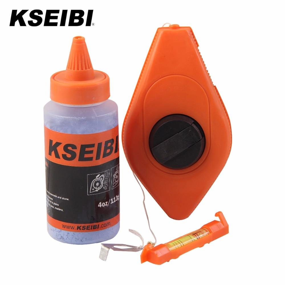 KSEIBI 303600 Professional 3pcs Chalk Line Reel Set With Refill Powder