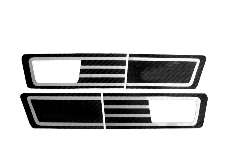 1set for Chevrolet sail 2010 2014 Special purpose Side lamp Sticker Carbon fiber sticker Steering light sticker in Chromium Styling from Automobiles Motorcycles