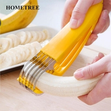 HOMETREE NEW Stainless Steel Banana Slicer Fruit Cutter Cucumber Chopper Salad blade Ham sausage Slicer Home Kitchen Tools H187