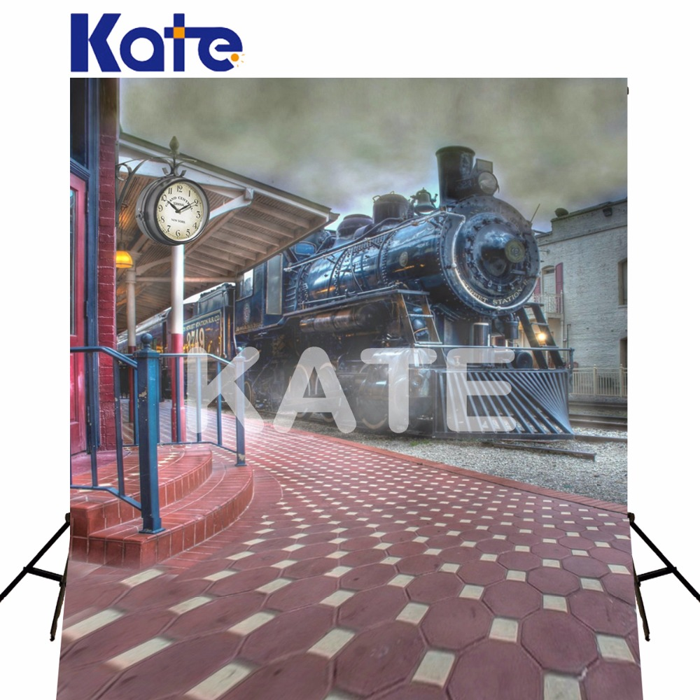 5*6.5FT Kate Backgrounds Photography Backdrop Photo Studio Railway Train Fotografie Achtergronden Backdrop For Photography