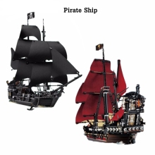 лучшая цена Set building blocks kit brick children's toys Caribbean Pirates Black Pearl Pirate Ship Model  Legoments