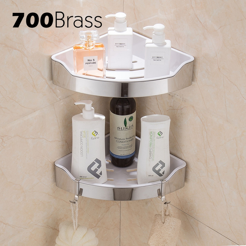 Stainless Steel 304 Modern Bathroom Shelf Removable ABS Plastic ...