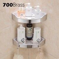 Stainless Steel 304 Modern Bathroom Shelf Removable ABS Plastic Corner Wall Shelf Shower Bath Holder Rack With Hooks