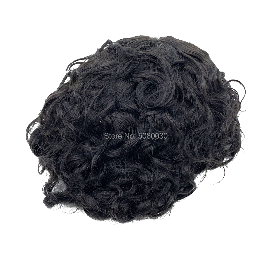 Wholesale Price BIO Base Natural Looking Skin With Lace Front Virgin Human Hair Toupee For Men