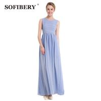 SOFIBERY Unique conception dames col rond robe sans manches Tempérament rayures robe en mousseline de soie dame élégante robe S614