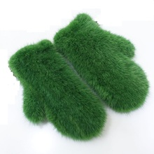 Hot Sale Winter Gloves Women Knitted Mink Fur Glove With Fashion Solid Warm Female gift for wife